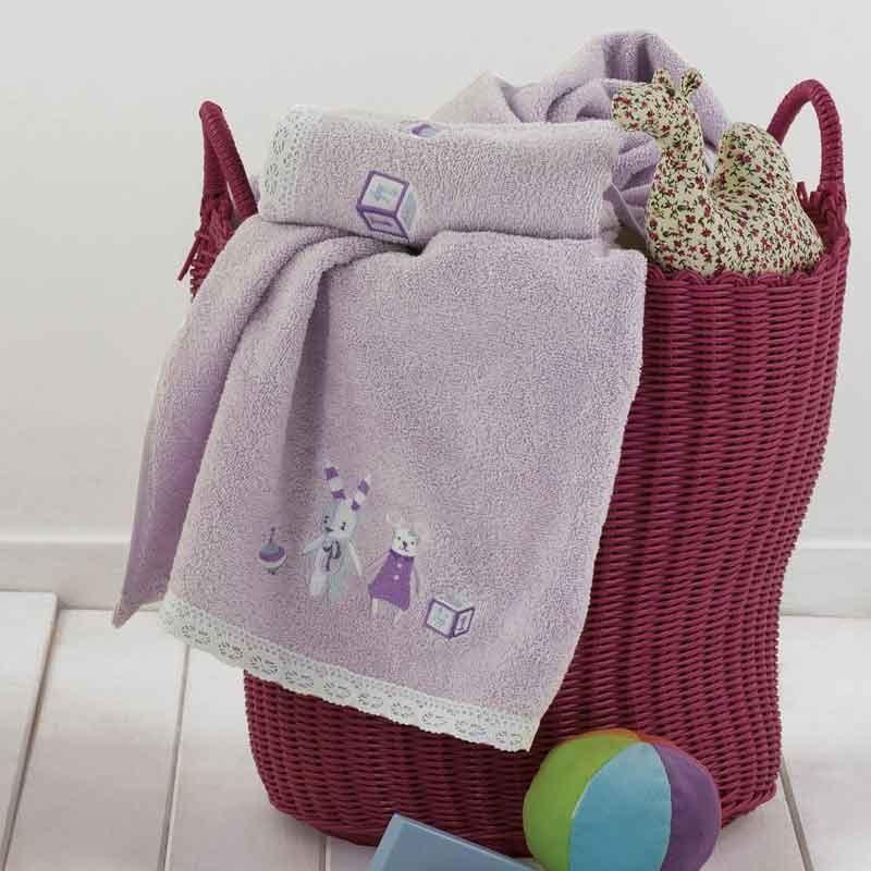 Σετ πετσέτες βρεφικές 2τμχ KENTIA Bambina