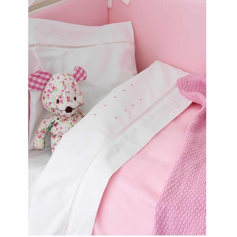Σετ σεντόνια βρεφικά κούνιας (Fitted) Palamaiki Baby Joia Collection BJ362 Pink