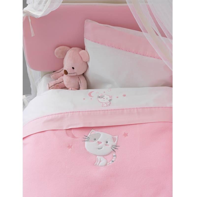 Σετ σεντόνια βρεφικά κούνιας (Fitted) Palamaiki Baby Joia Collection BJ565 Pink