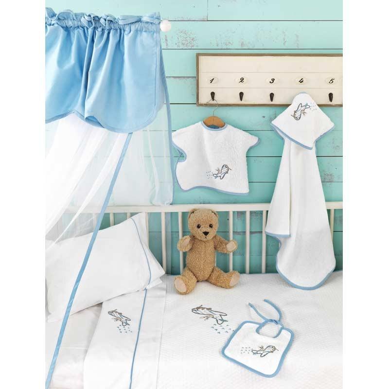 Κουβέρτα Κούνιας Πικέ Palamaiki Baby Joia Collection BJ883