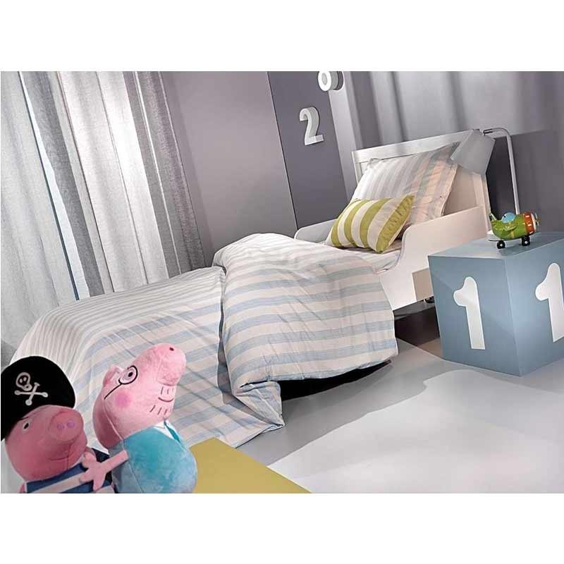Σετ Σεντόνια Παιδικά Μονά Saint Clair Paris Blue Stripes 1710030216000
