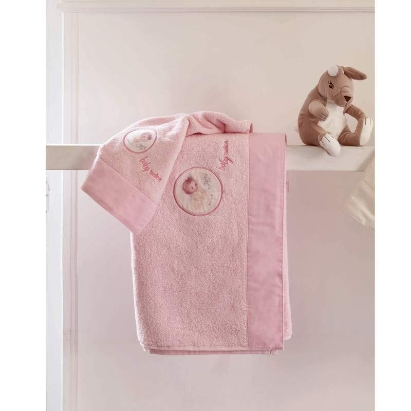 Σετ πετσέτες βρεφικές 2τμχ Makis Tselios home Born