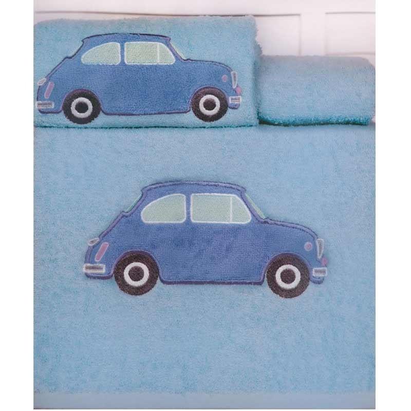 Σετ Πετσέτες Βρεφικές 2τμχ Palamaiki Kids Towels Car