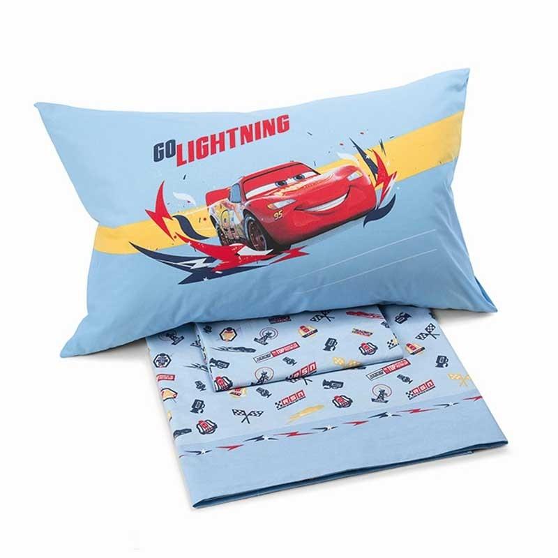 Σετ Σεντόνια Παιδικά Ημίδιπλα (Fitted) Palamaiki Disney Cars Speed