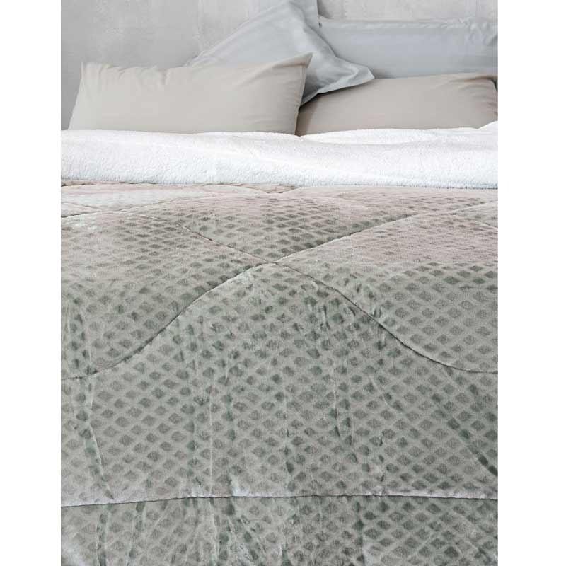 Κουβερτοπάπλωμα Υπέρδιπλο Palamaiki Bed Collection Celine Grey