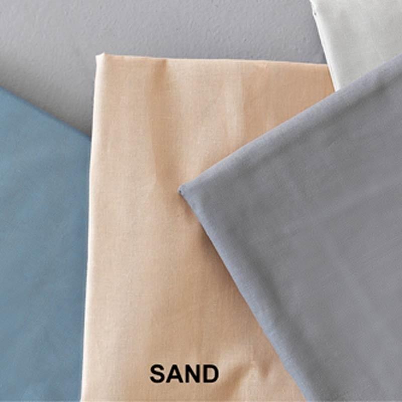 Σετ Σεντόνια Ημίδιπλα (Flat) Μονόχρωμα Palamaiki Colour Rainbow Sand