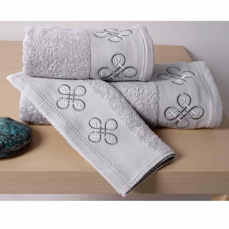 Σετ Πετσέτες 3τμχ Sb Home Cross Towels Silver 02.00493