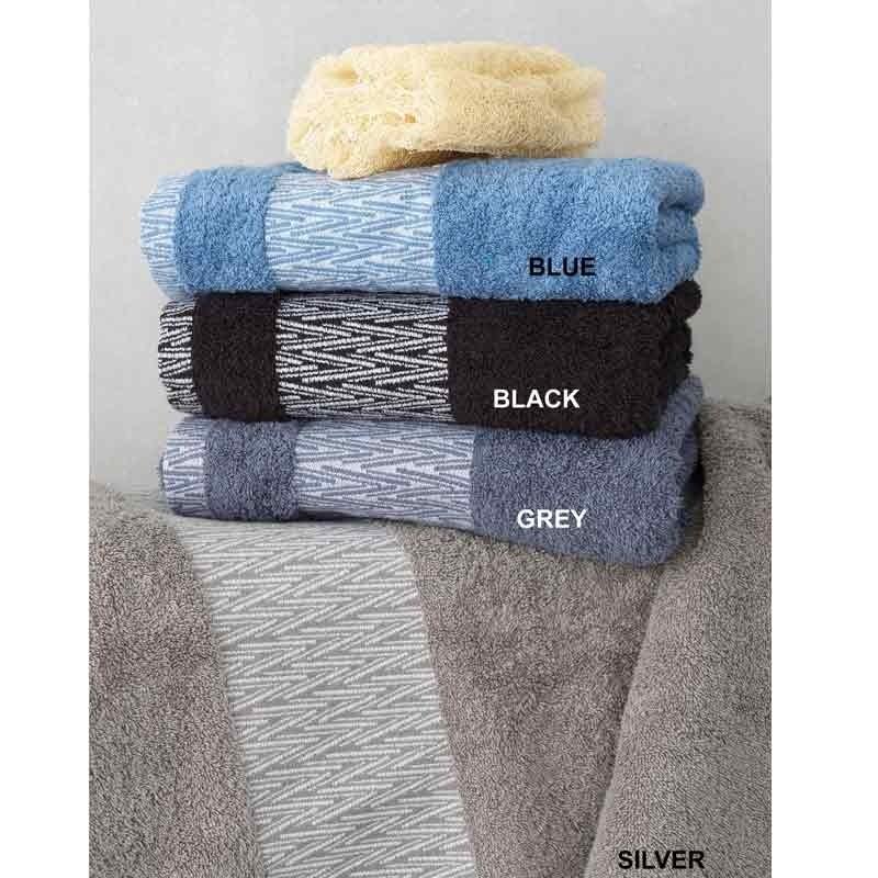 Σετ Πετσέτες 3τμχ Palamaiki Towels Collection Cruz Black 5205857177959