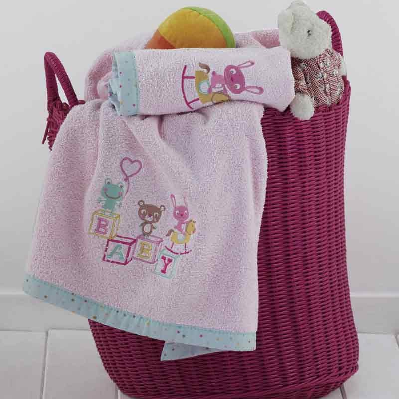 Σετ πετσέτες βρεφικές 2τμχ KENTIA Cube