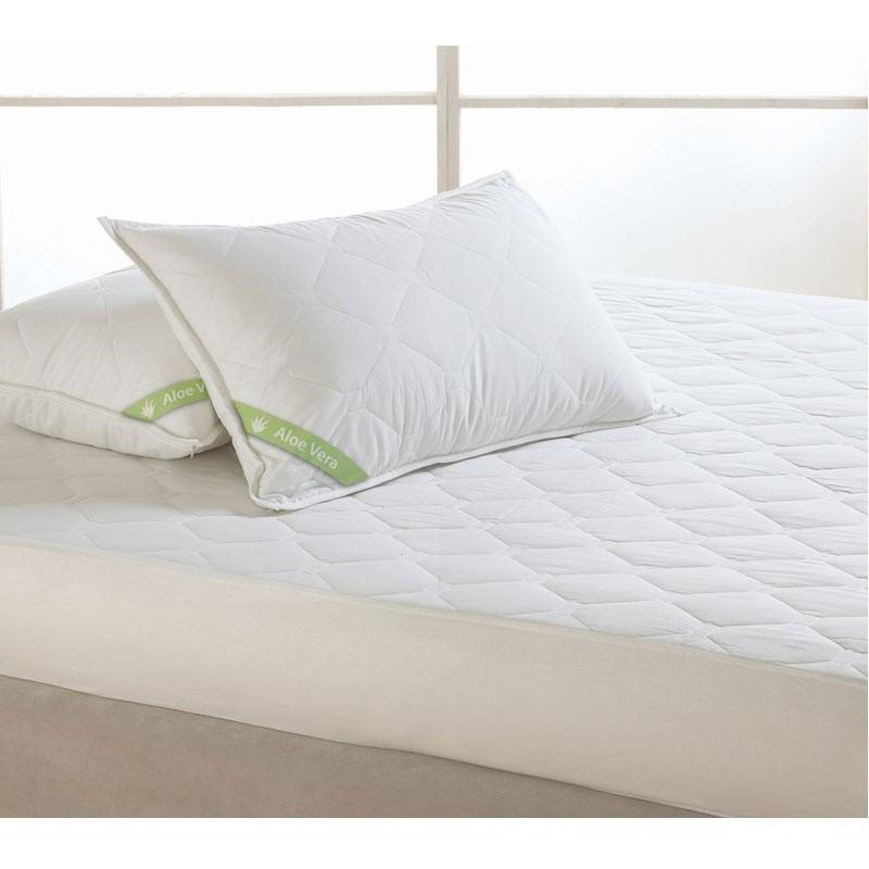 Ζεύγος Μαξιλαροθήκες Αδιάβροχες Καπιτονέ Palamaiki Aloe Vera Pillow Case (50x80)