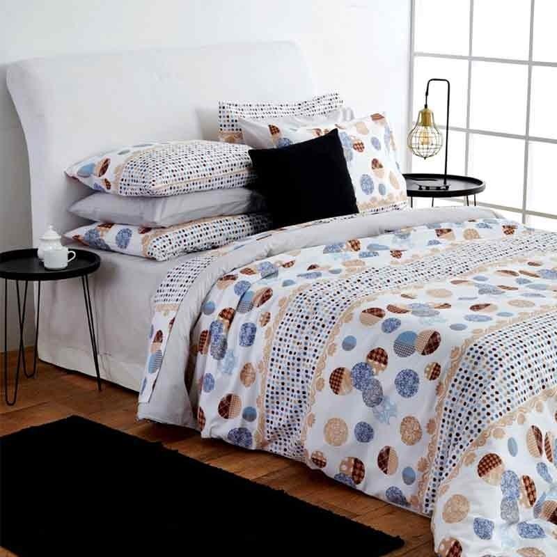 Σετ Σεντόνια Υπέρδιπλα Sb Home Dots Grey 01.02024