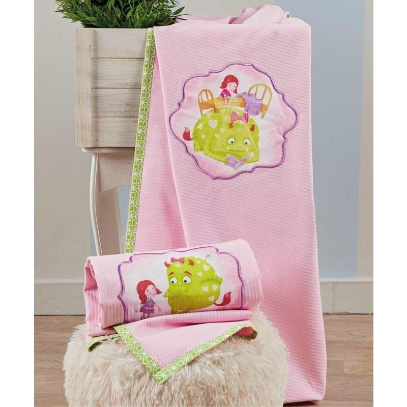 Κουβέρτα Αγκαλιάς βρεφική Πικέ KENTIA Fairy Tale 14