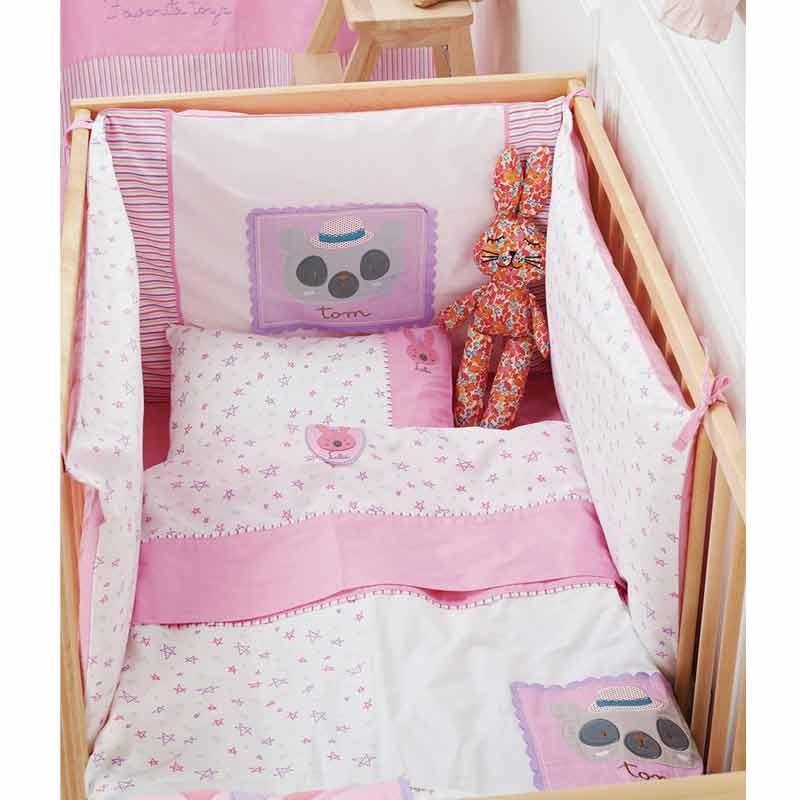 Σετ προίκας Μωρού 5 τμχ (πάντα,πάπλωμα,παπ/θήκη,μαξιλάρι,μαξ/θήκη) KENTIA Family Toys