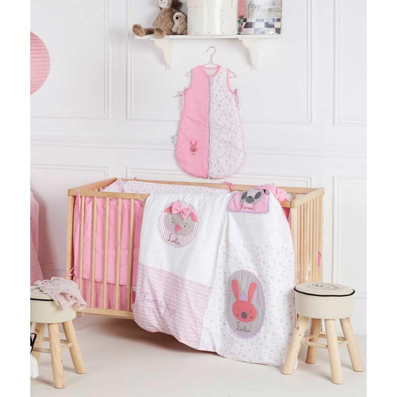 Σετ προίκας Μωρού 4 τμχ (πάπλωμα,παπ/θήκη,μαξιλάρι,μαξ/θήκη) KENTIA Family Toys