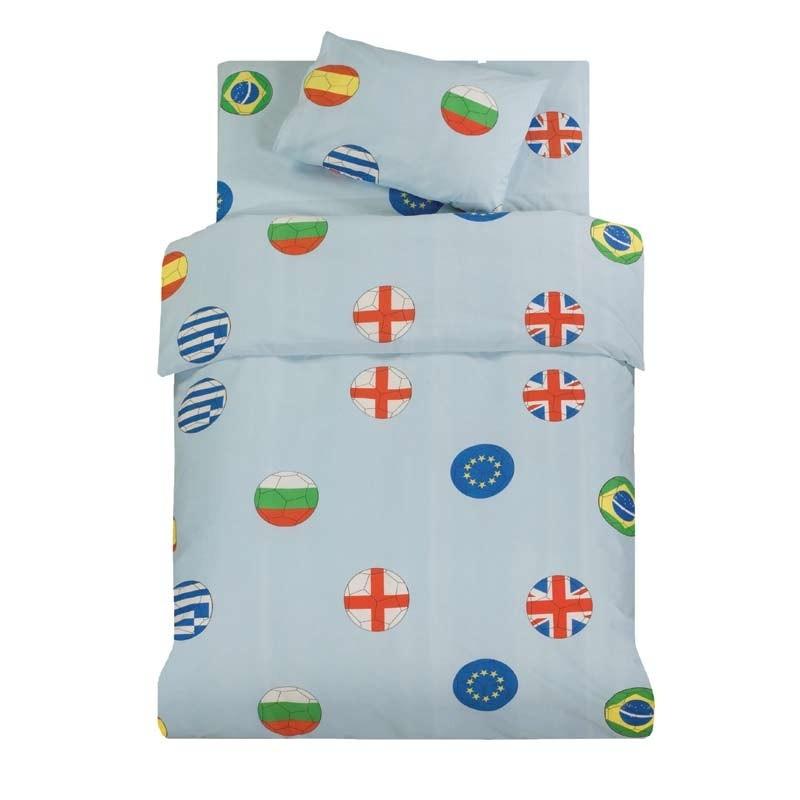 Σετ Παπλωματοθήκη Παιδική Μονή Makis Tselios home Flags