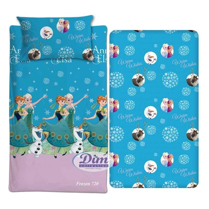 Παιδικό Σετ Κουβερλί Μονό Dim Collection Disney Frozen 720