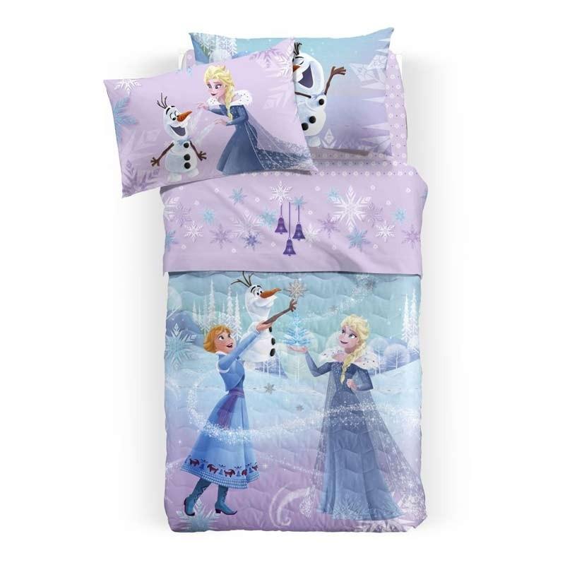 Κουβερλί Παιδικό Ημίδιπλο Palamaiki Disney Frozen Glitter