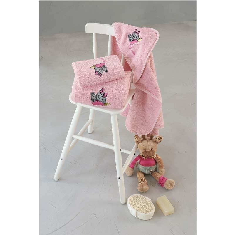 Σετ πετσέτες βρεφικές 2τμχ Makis Tselios home Girlbear