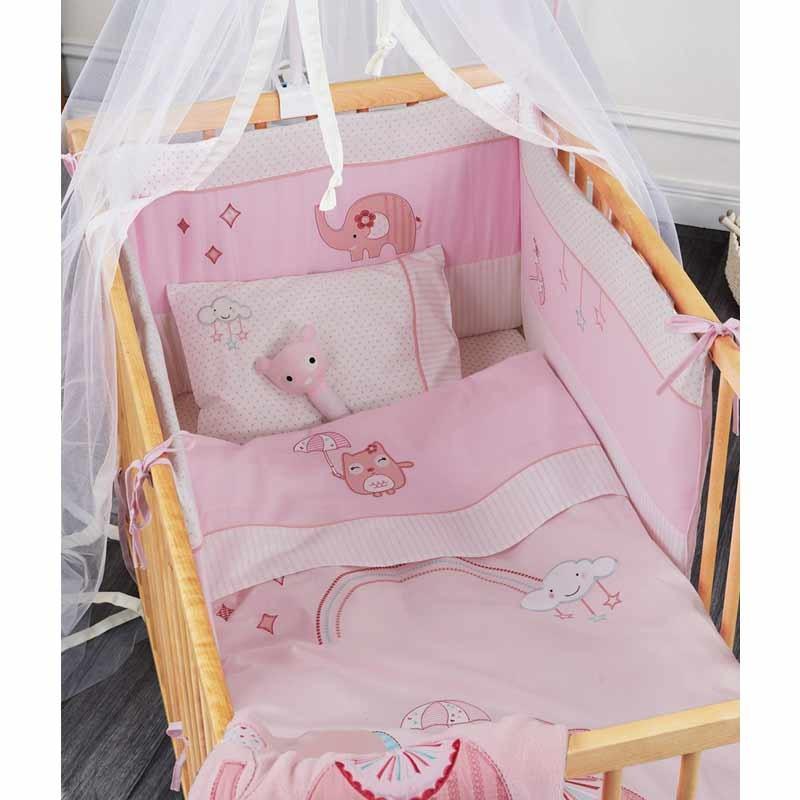 Σετ προίκας Μωρού 5 τμχ (πάντα,πάπλωμα,παπ/θήκη,μαξιλάρι,μαξ/θήκη) KENTIA Happy Time
