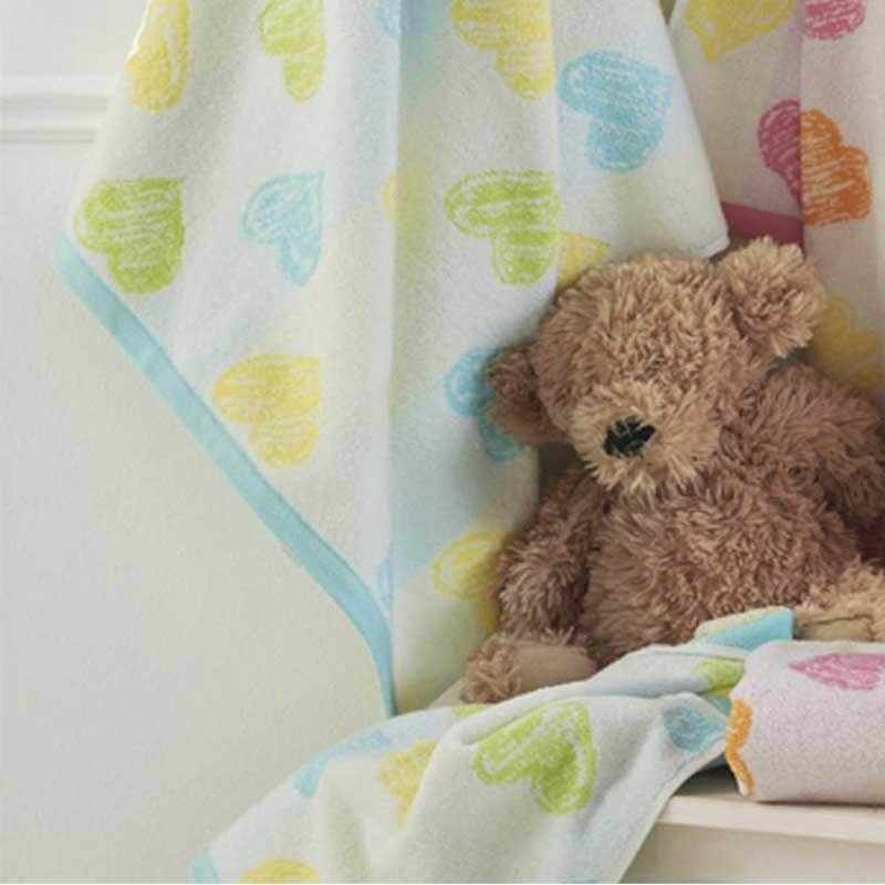 Σετ πετσέτες βρεφικές 2τμχ KENTIA Hearts 19