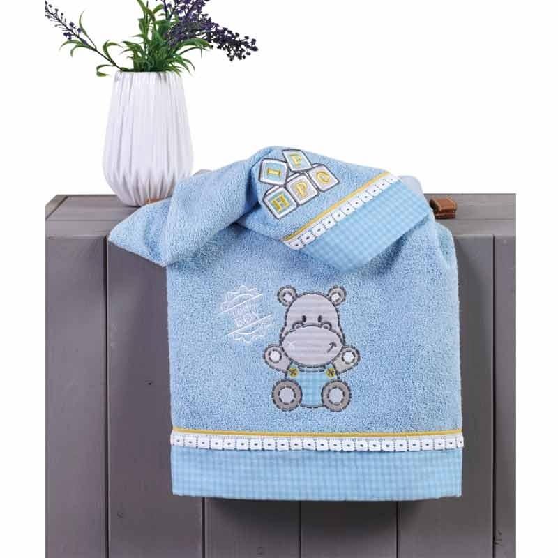 Σετ πετσέτες βρεφικές 2 τμχ KENTIA Hippo