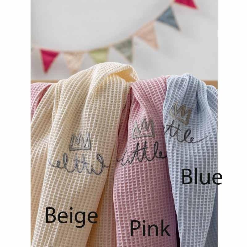 Κουβέρτα Αγκαλιάς Πικέ Βρεφική Palamaiki HOME Honey Pink 5205857187545