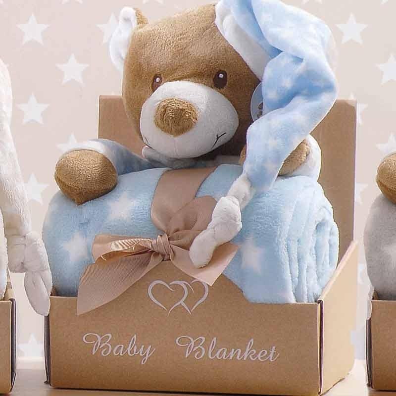Κουβέρτα Αγκαλιάς Fleece με Αρκουδάκι Makis Tselios home Hoodies 3 Γαλάζιο