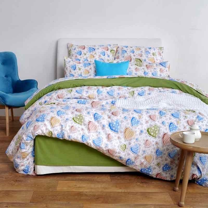 Σετ Σεντόνια Υπέρδιπλα Sb Home In Love Blue 01.01994