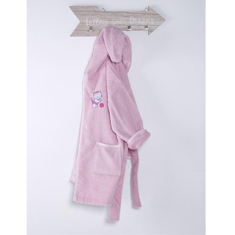 Μπουρνούζι Βρεφικό (No 2) Sb Home Kitten Pink 05.00186