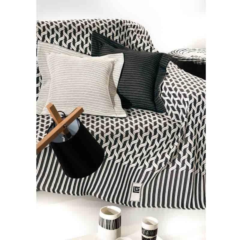 Ριχτάρι Τριθέσιο (180x300) Guy Laroche 2 όψεων Kylim Black & White