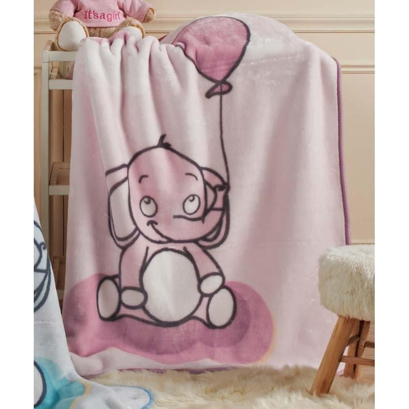 Βρεφική Κουβέρτα Κούνιας βελουτέ KENTIA Lazy 14