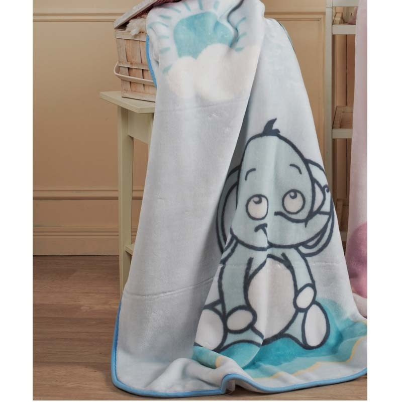 Βρεφική Κουβέρτα Κούνιας βελουτέ KENTIA Lazy 19
