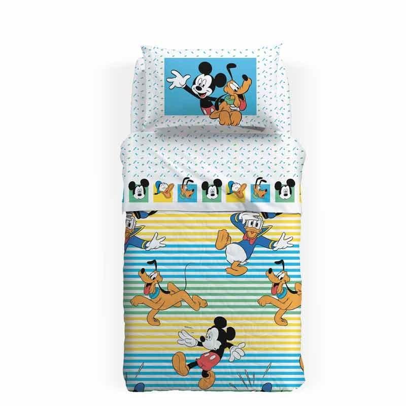 Σετ Σεντόνια Παιδικά Ημίδιπλα (με λάστιχο) Palamaiki HOME Disney Mickey Estate 8000842777254