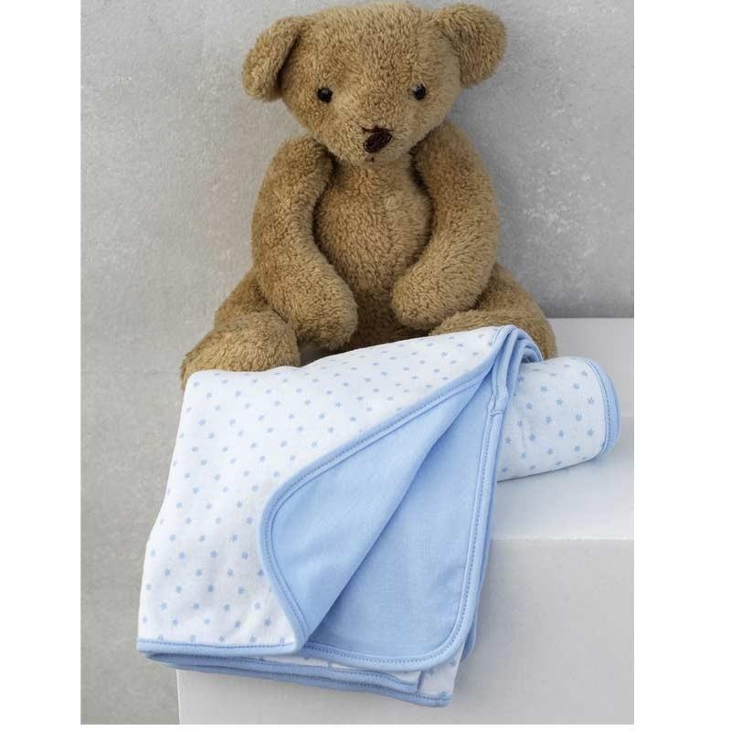 Κουβέρτα αγκαλιάς για δώρο Palamaiki HOME New Baby NB-0117 Blue 5205857185329