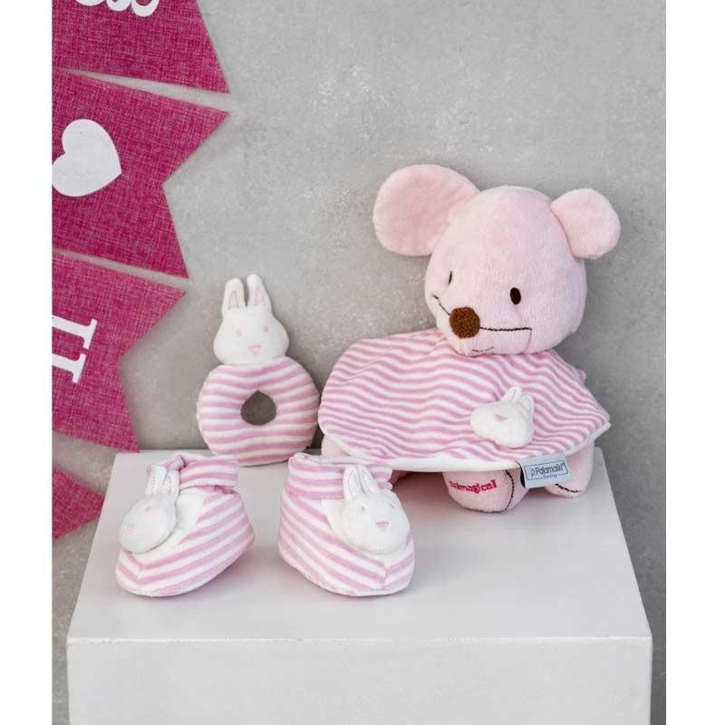 Σετ Bebe 3τμχ για δώρο Palamaiki HOME New Baby NB-0119 Pink 5205857185374