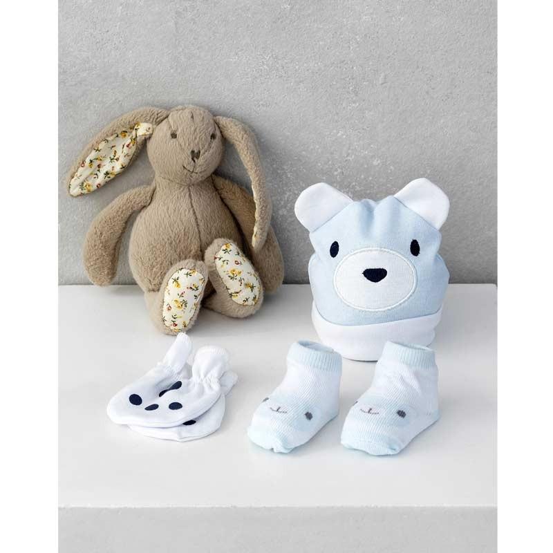 Σετ Bebe 3τμχ για δώρο Palamaiki HOME New Baby NB-0120 Blue 5205857185381