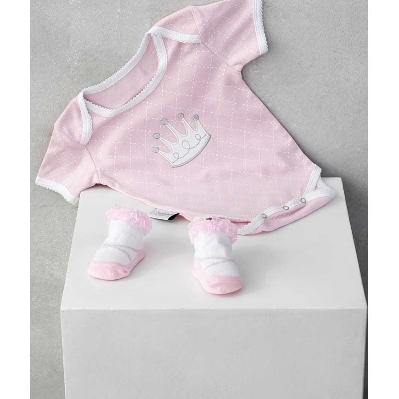 Σετ Bebe 2τμχ για δώρο Palamaiki HOME New Baby NB-0125 Girl 5205857185473