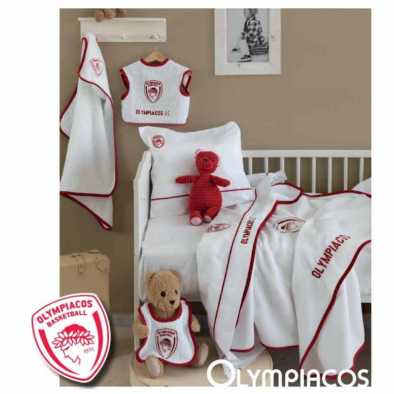 Κουβέρτα Κούνιας Fleece Palamaiki Baby Team Olympiacos Official Licensed