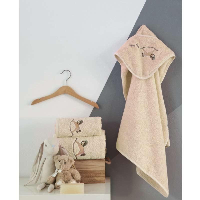 Σετ πετσέτες βρεφικές 2τμχ Makis Tselios home Ponito