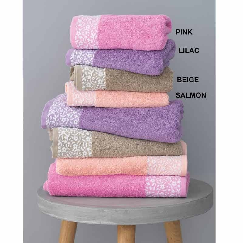 Σετ Πετσέτες 3τμχ Palamaiki Towels Collection Primavera Salmon 5205857178024