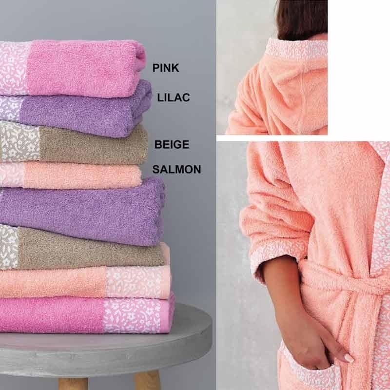 Μπουρνούζι με κουκούλα (Medium) Palamaiki Primavera Pink 5205857178284