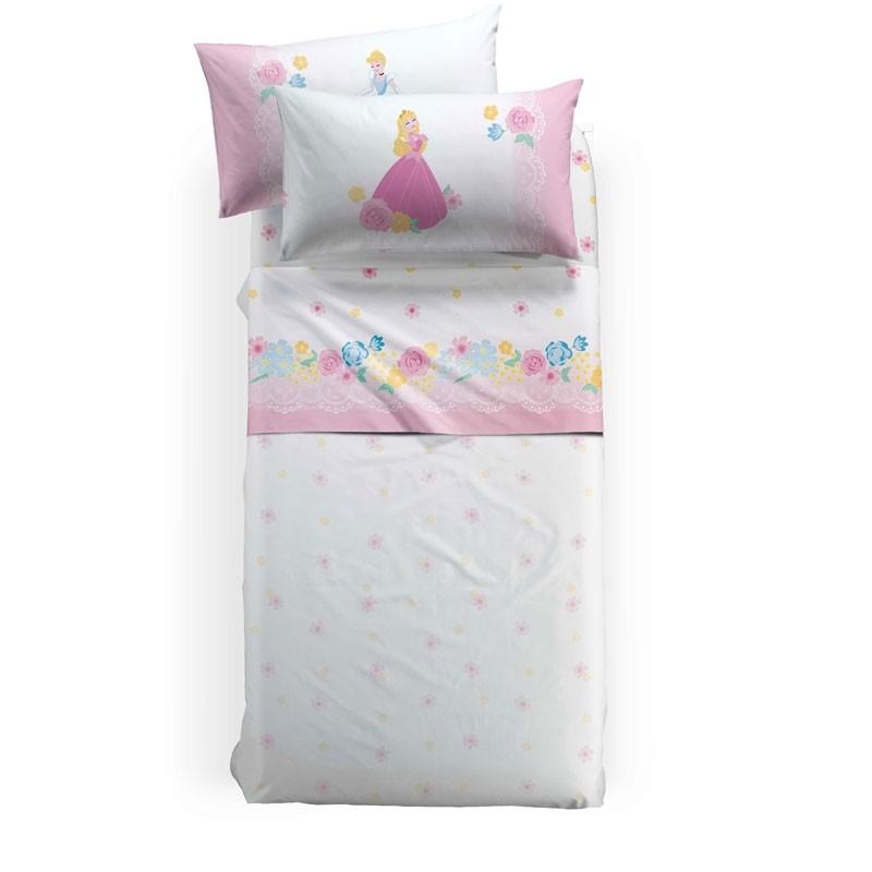 Σετ Σεντόνια Παιδικά Ημίδιπλα (με λάστιχο) Palamaiki HOME Disney Princess Romance 8000842776684