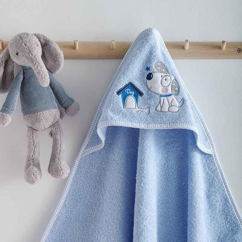 Κάπα Μπουρνουζάκι Βρεφικό Sb Home Puppy Blue 05.00226