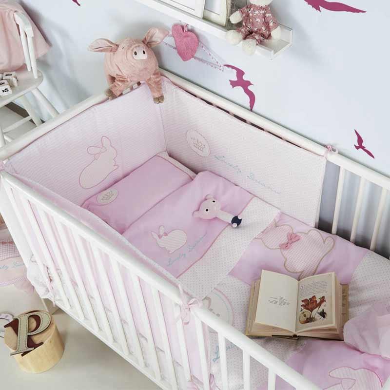 Σετ προίκας Μωρού 5 τμχ (πάντα,πάπλωμα,παπ/θήκη,μαξιλάρι,μαξ/θήκη) KENTIA Rabbit