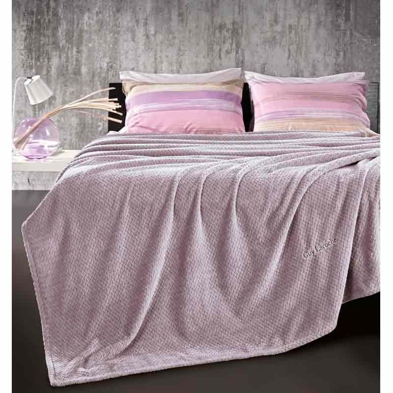 Κουβέρτα Μονή Guy Laroche Ultra Soft Rombus Lilac 1113086118001
