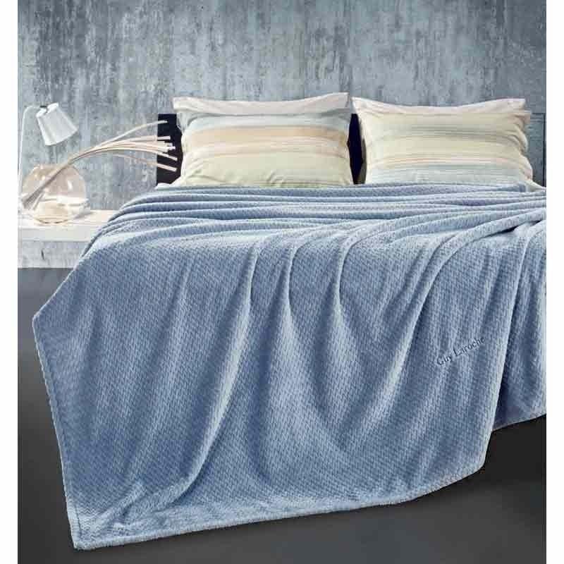 Κουβέρτα Υπέρδιπλη Guy Laroche Ultra Soft Rombus Sky 1113086118008