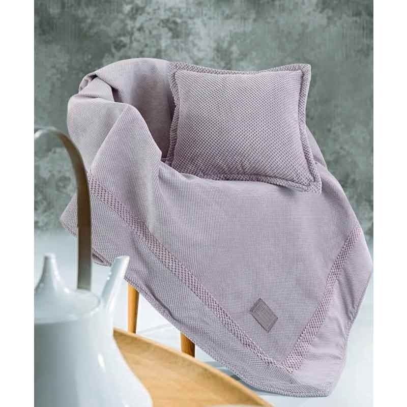 Ριχτάρι Διθέσιο Guy Laroche Microvelour Throws Rubicon Amethyst