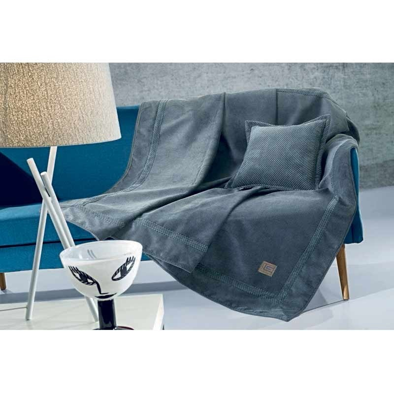 Ριχτάρι Τριθέσιο Guy Laroche Microvelour Throws Throws Rubicon Anthracite