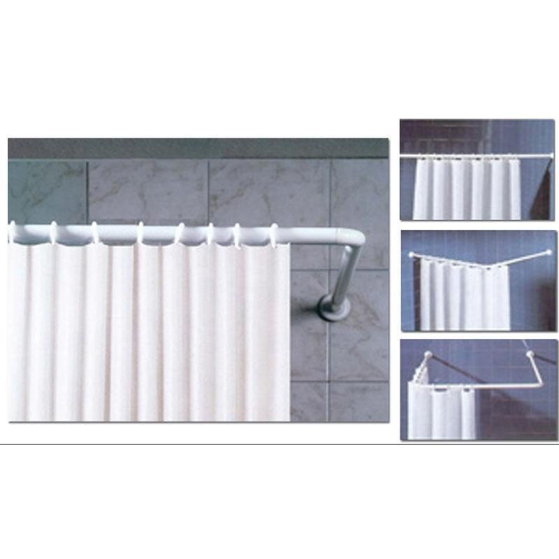Γωνιακός Βραχίονας Κουρτίνας Μπάνιου San Lorentzo 50 White