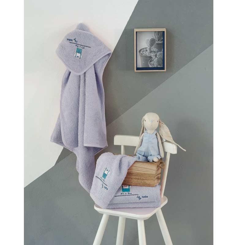 Σετ πετσέτες βρεφικές 2τμχ Makis Tselios home Signor